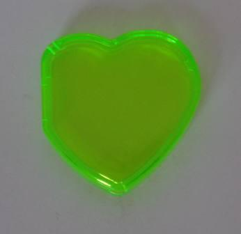 Beanie Baby Tag Cover (Green Heart)